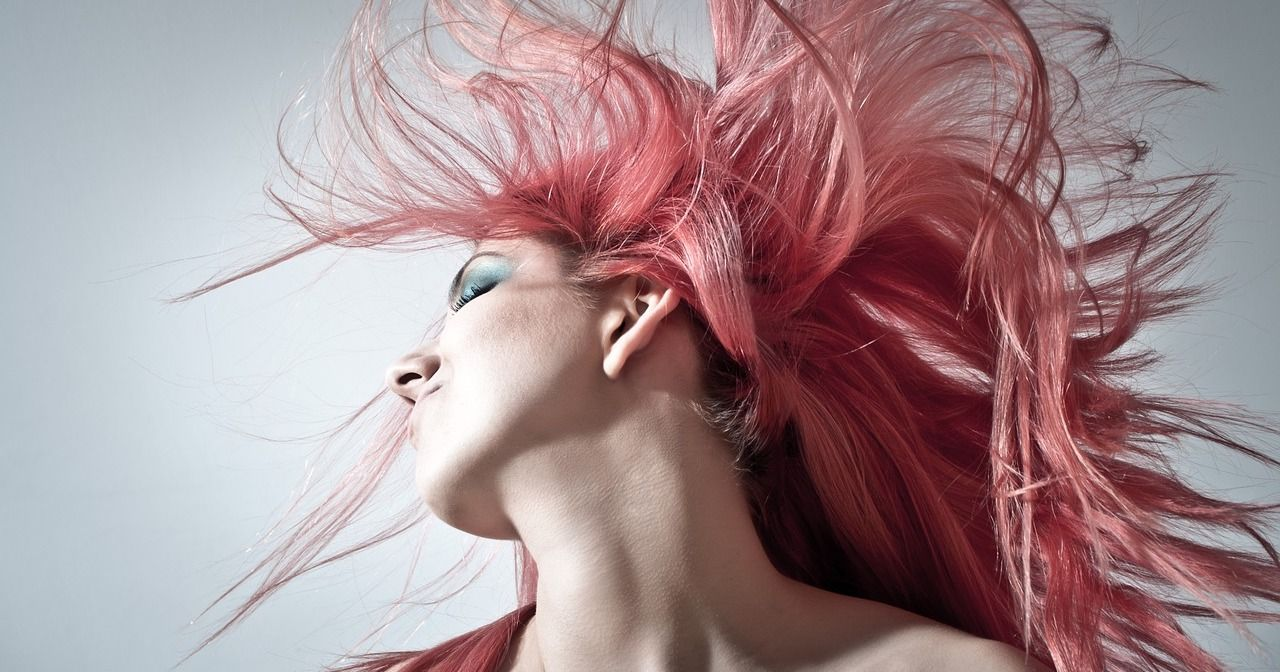 woman with crazy pink hair